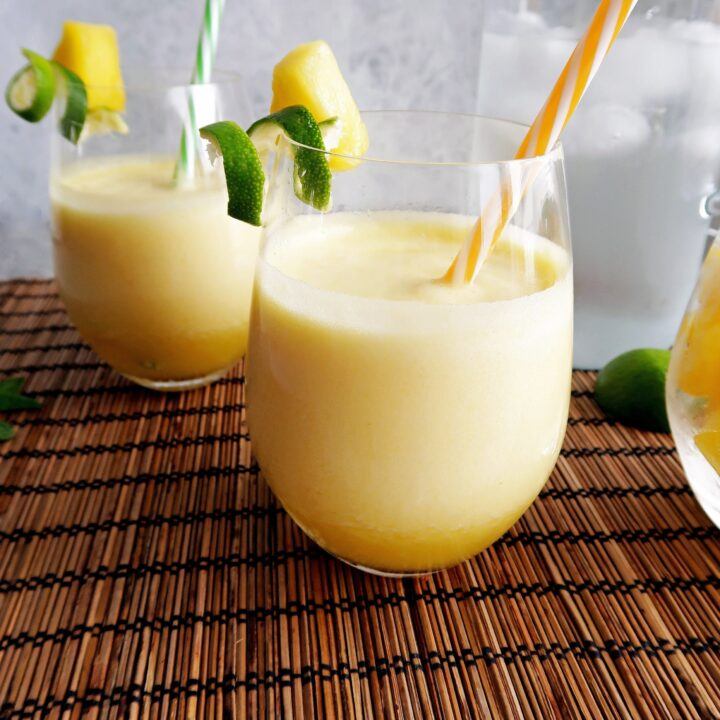 3-Ingredient Pineapple Coconut Water Slushies