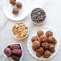 4-Ingredient Peanut Chocolate Chip Energy Balls