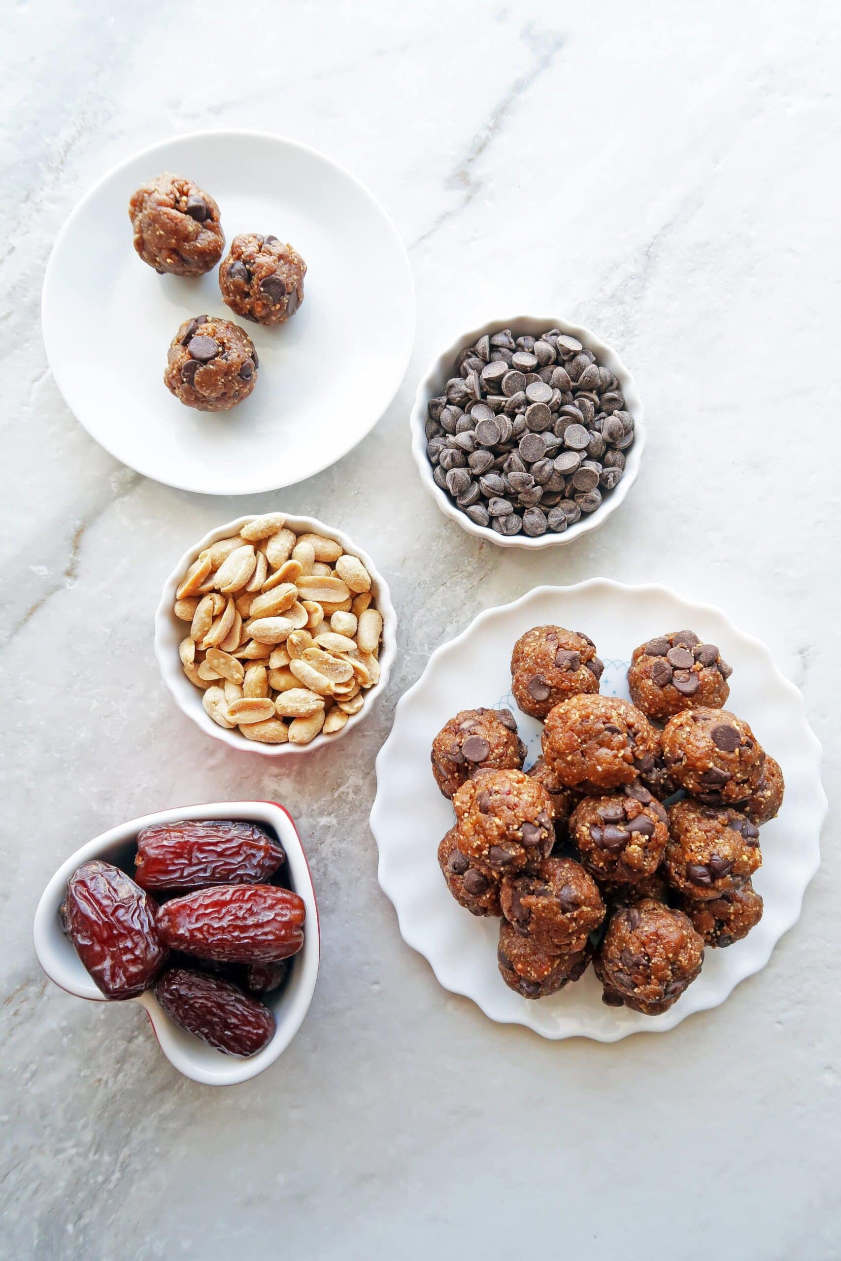 4-Ingredient Peanut Chocolate Chip Energy Balls
