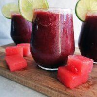 4-Ingredient Watermelon Cherry Slushies