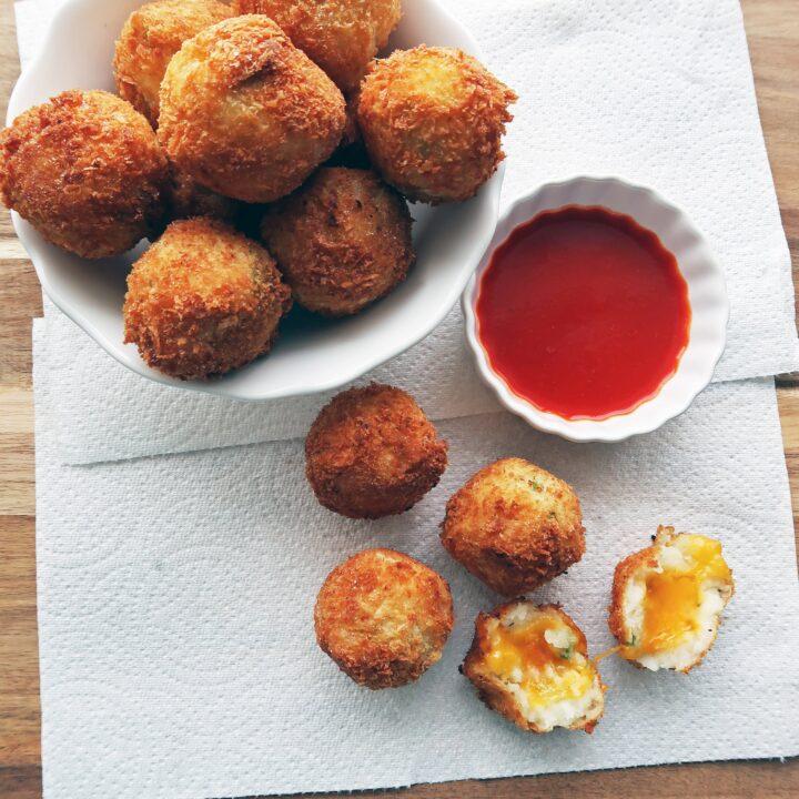 5 Ingredient Crispy Mashed Potato Cheese Balls
