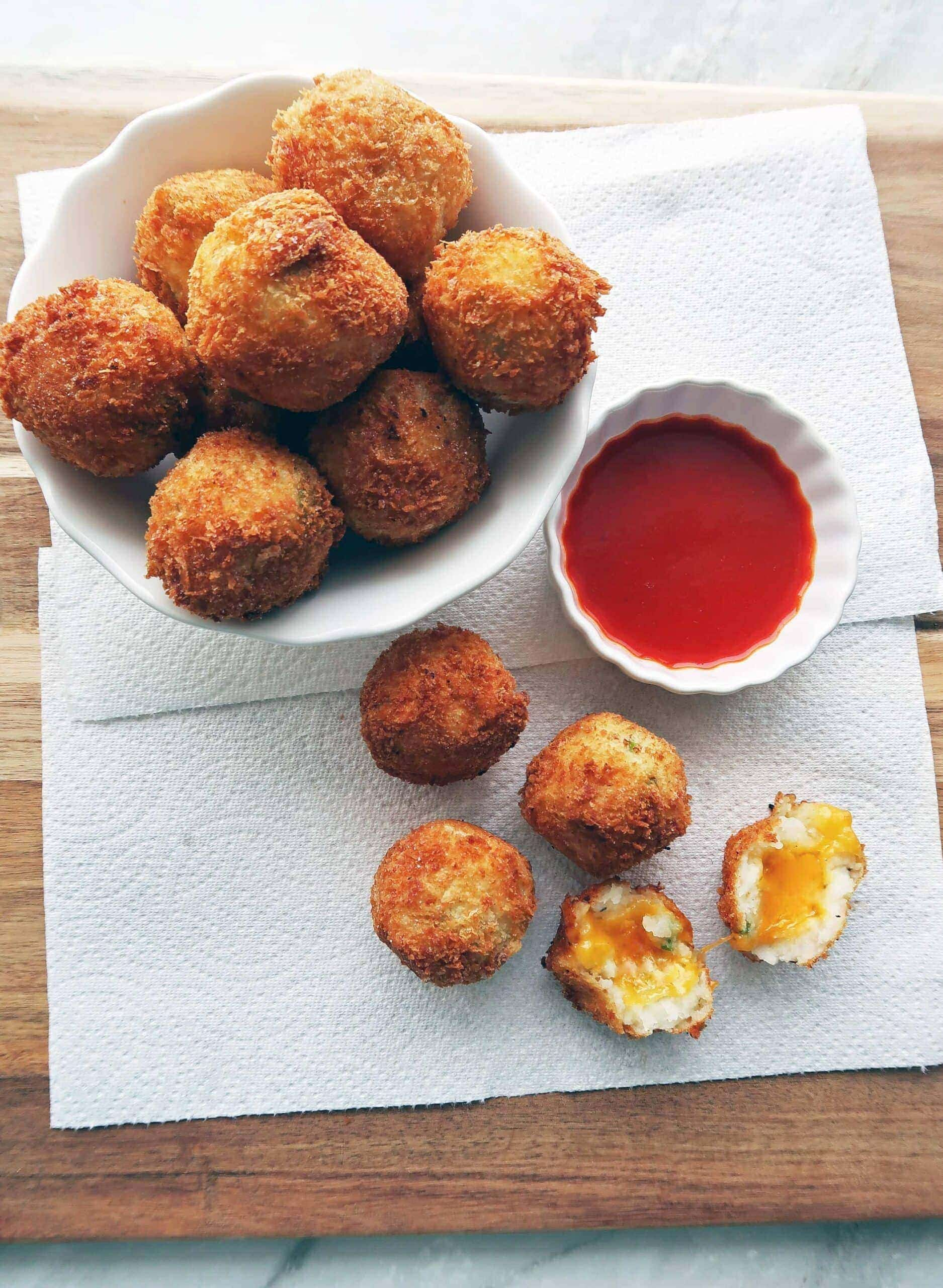 5 Ingredient Crispy Mashed Potato Cheese Balls