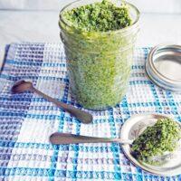 5 Minute Kale Walnut Pesto