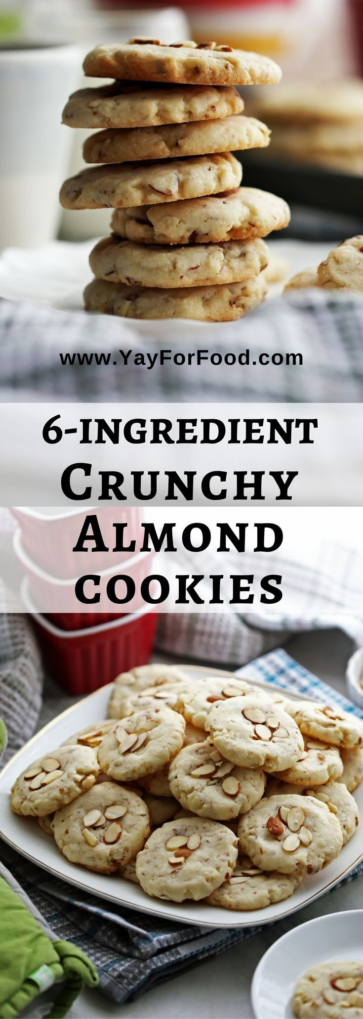 A delicious sweet treat! Try this easy-to-make six ingredient cookie that's full of yummy almond flavour! It's ready in 30 minutes too.