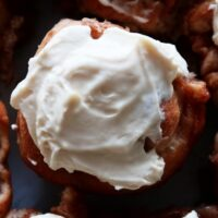 Apple Cinnamon Rolls with Maple Cream Cheese Frosting