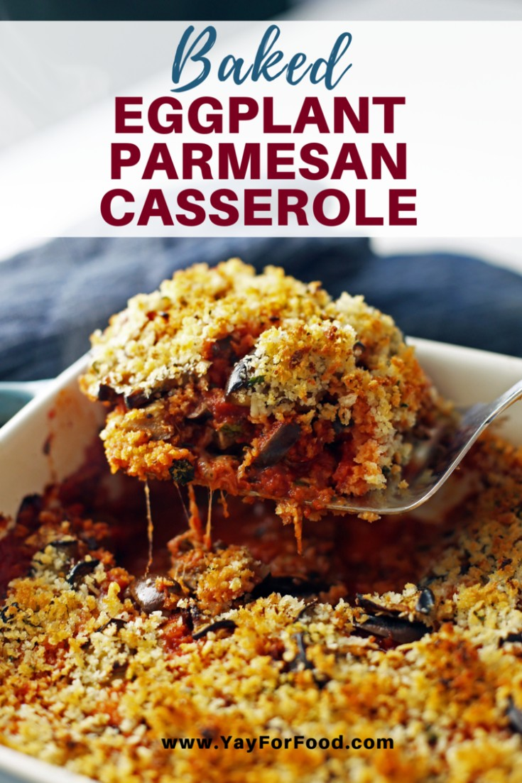 A delicious comfort food recipe featuring layers of tender eggplant and melty cheese topped with crunchy breadcrumbs. A winning combination that's easy to prepare!