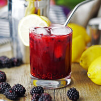 Blackberry Lemon Smash Cocktail