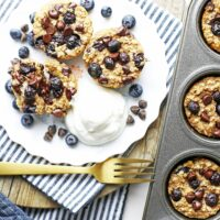 Blueberry Chocolate Oatmeal Cups