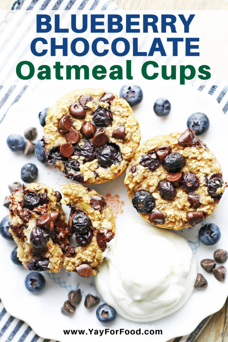 Loaded with hearty oats, fresh blueberries, and delicious chocolate, this oatmeal cup recipe is a tasty way to start your day. Enjoy them fresh out of the oven or reheated for a filling breakfast on the go.