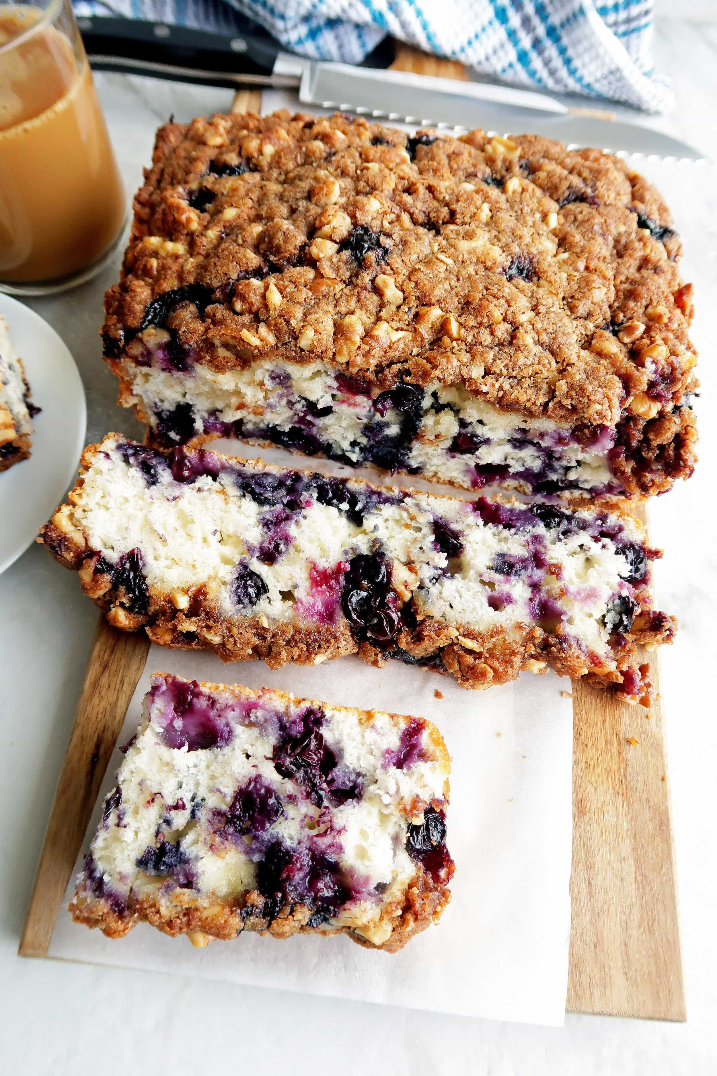 Blueberry Coffee Cake with Brown Sugar-Walnut Crumble