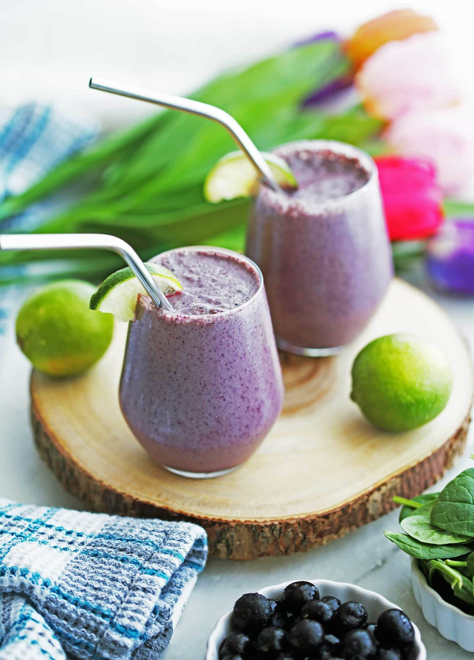Blueberry Lime Yogurt Smoothies