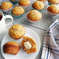 Easy Carrot Pineapple Muffins