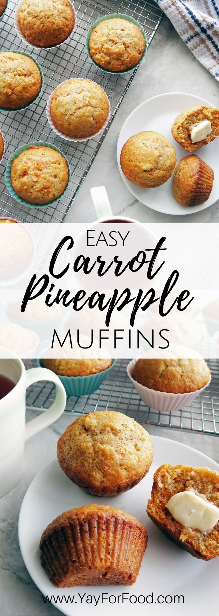 These classic Carrot Pineapple Muffins are flavourful, super soft, and extremely easy to make. Make these delicious muffins in less than 35 minutes.