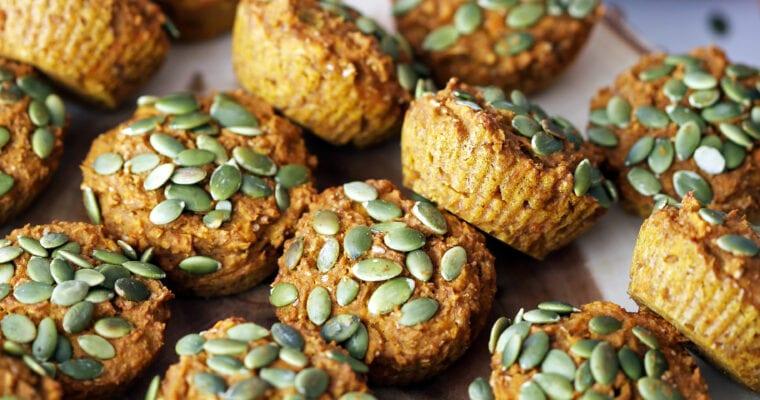 Healthy Carrot Pumpkin Muffins