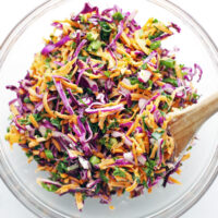 Healthy Carrot Cabbage Coleslaw
