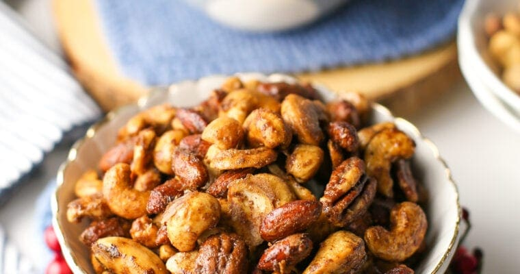 Six-Ingredient Cinnamon Sugar Candied Nuts