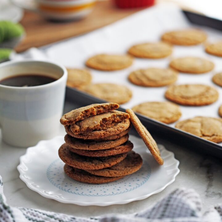Classic Chewy Gingersnap (Ginger Molasses) Cookies
