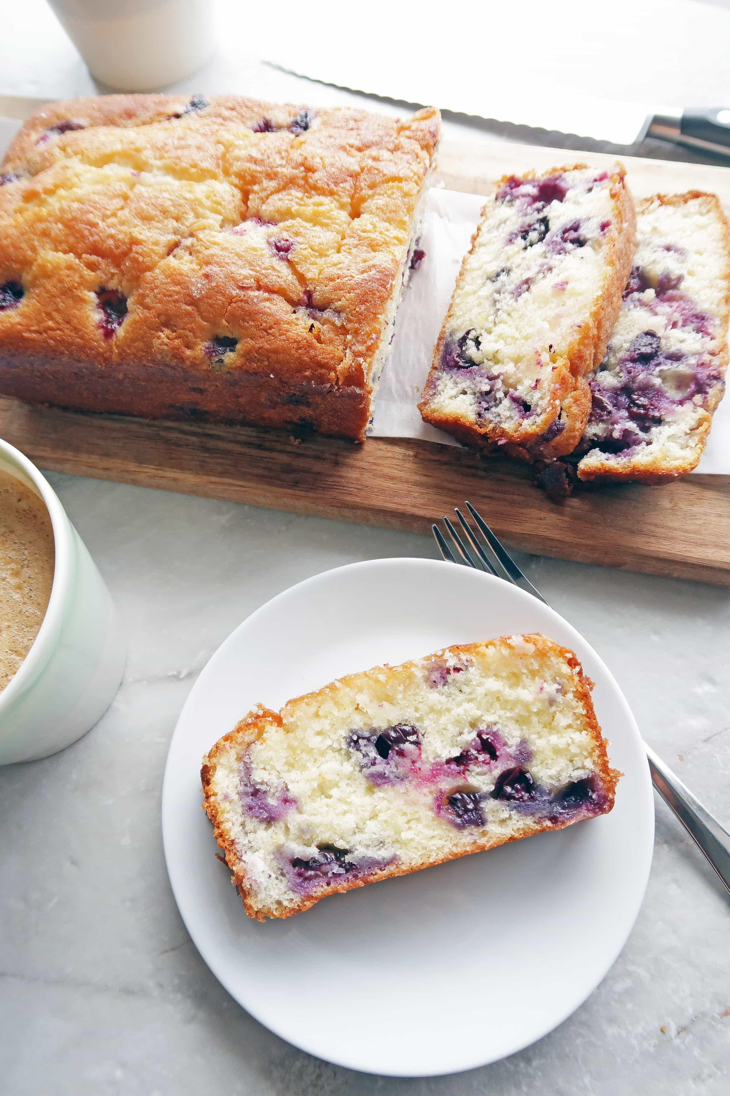 Classic Lemon Blueberry Loaf Cake