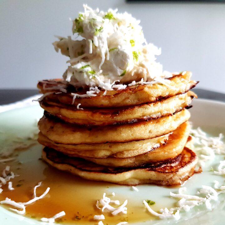 Coconut Lime Ricotta Pancakes