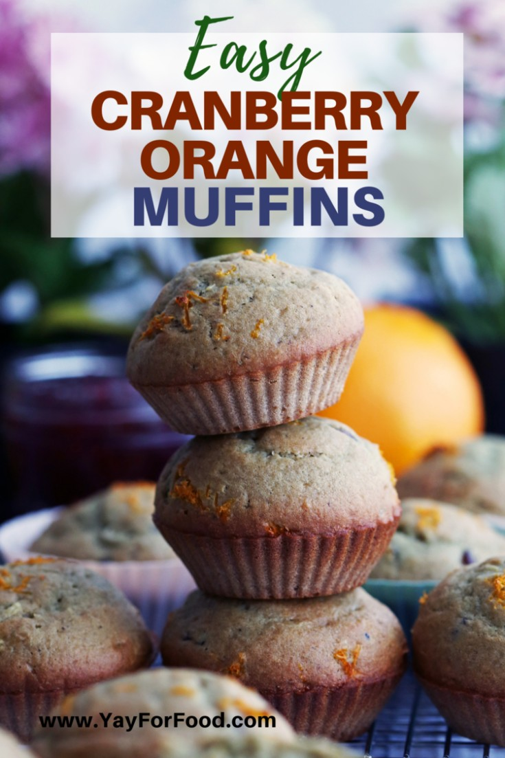 Perfect for sharing, this quick and easy muffin recipe features the classic combination of cranberry and orange. A soft, fluffy, and delicious treat for the holidays.
