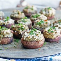 Easy Cream Cheese Stuffed Mushrooms