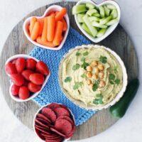 Creamy Roasted Jalapeño Cilantro Hummus