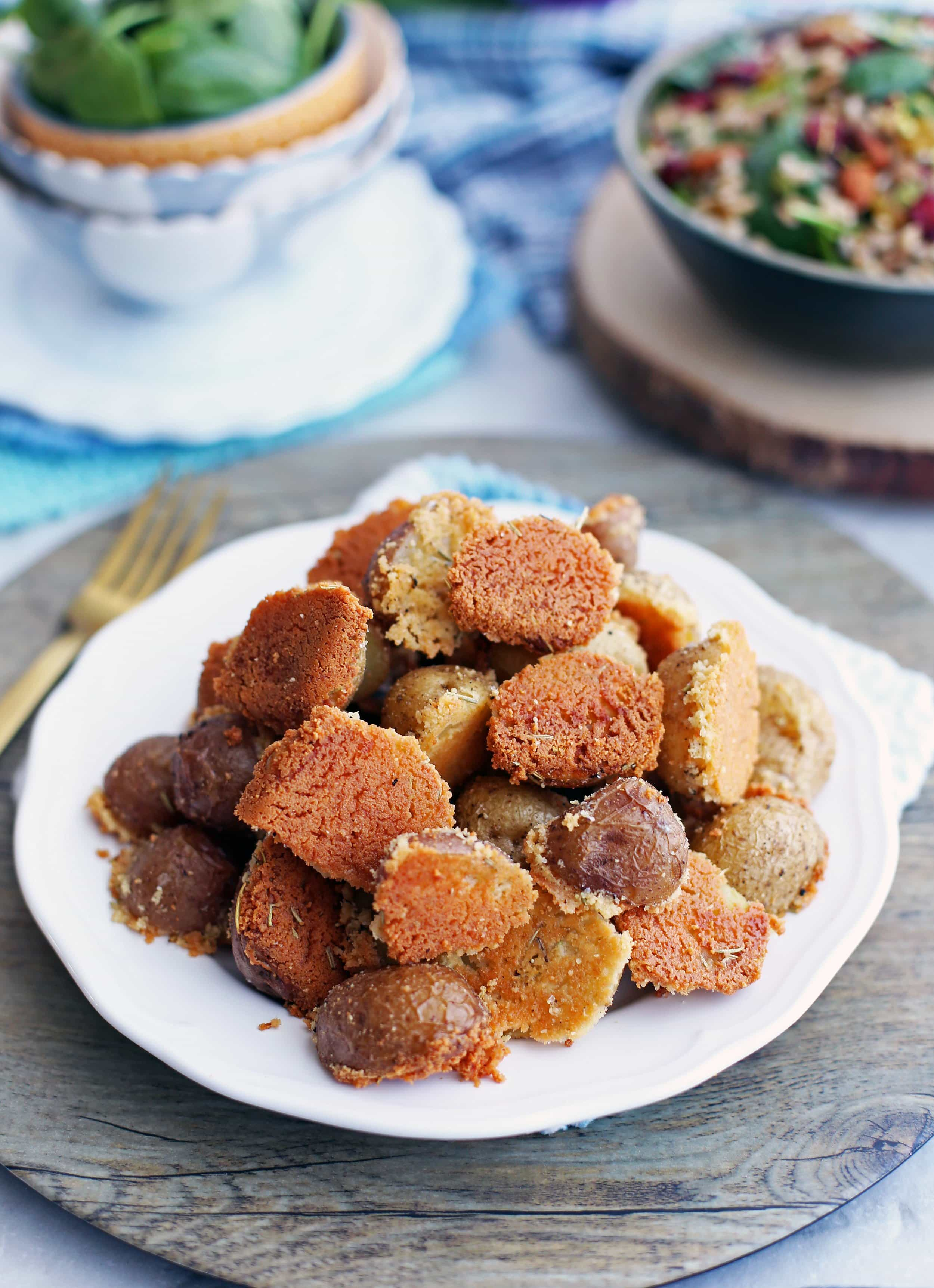 Crispy Parmesan Crusted Baby Potatoes
