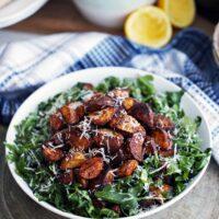 Crispy Roasted Potatoes and Arugula Salad