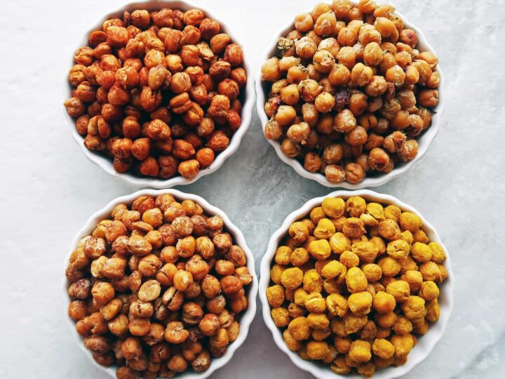 Crunchy Oven Roasted Chickpeas 4 Ways Yay For Food