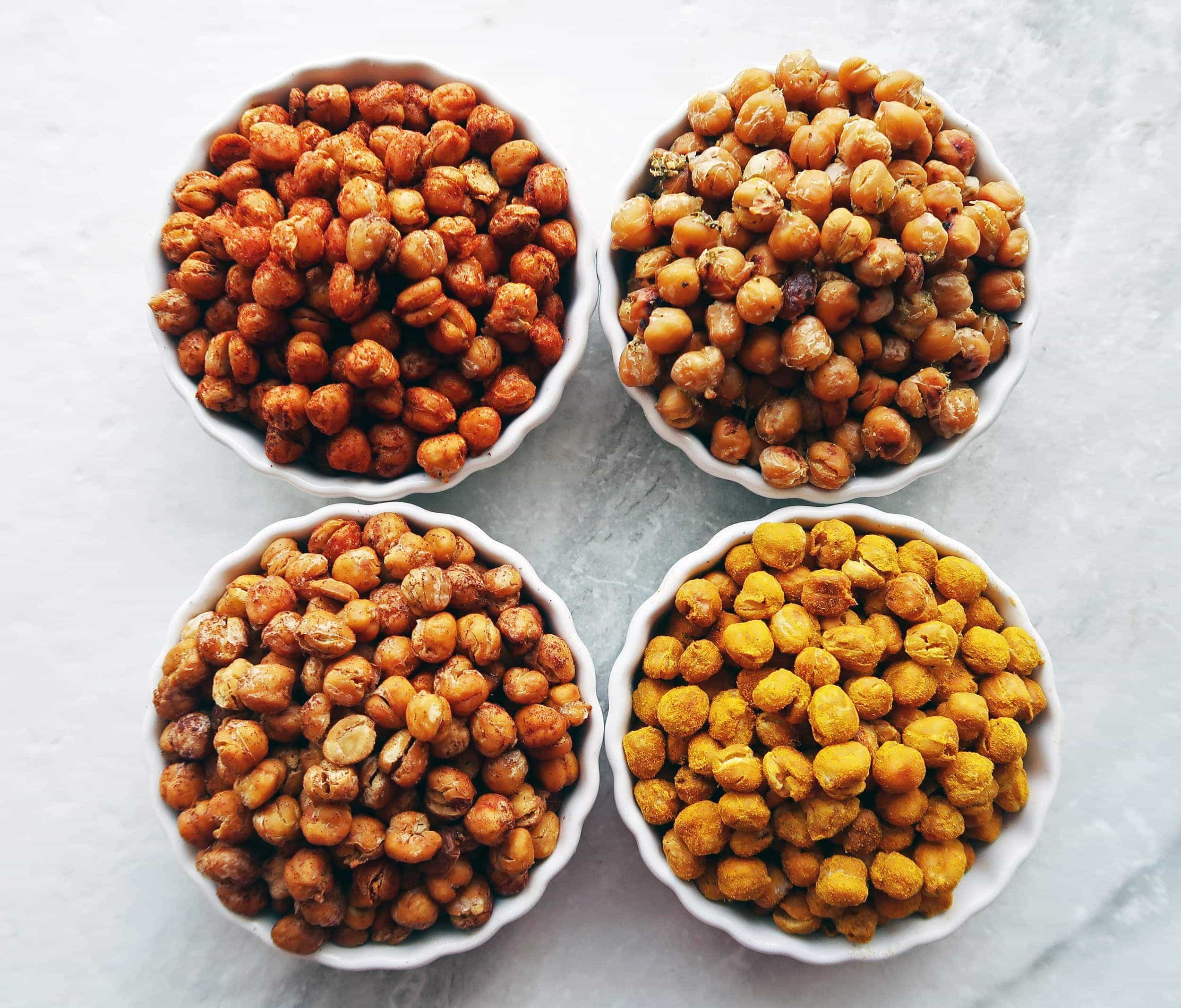 Crunchy Oven Roasted Chickpeas 4 Ways