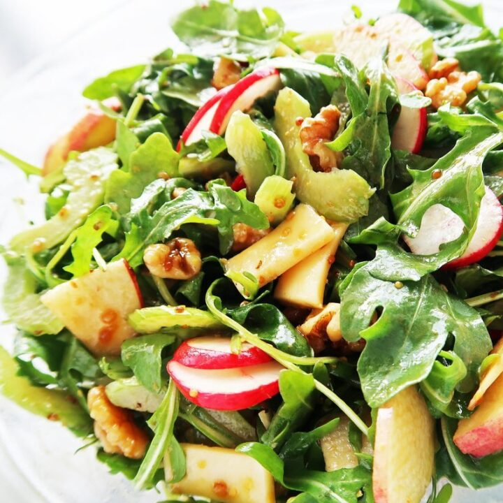 Crunchy Winter Salad with Balsamic Honey Mustard Dressing