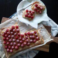 Fresh Raspberry Lemon Curd Tart