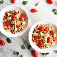 Fresh Tomato, Mozzarella, and Herb Quinoa Salad