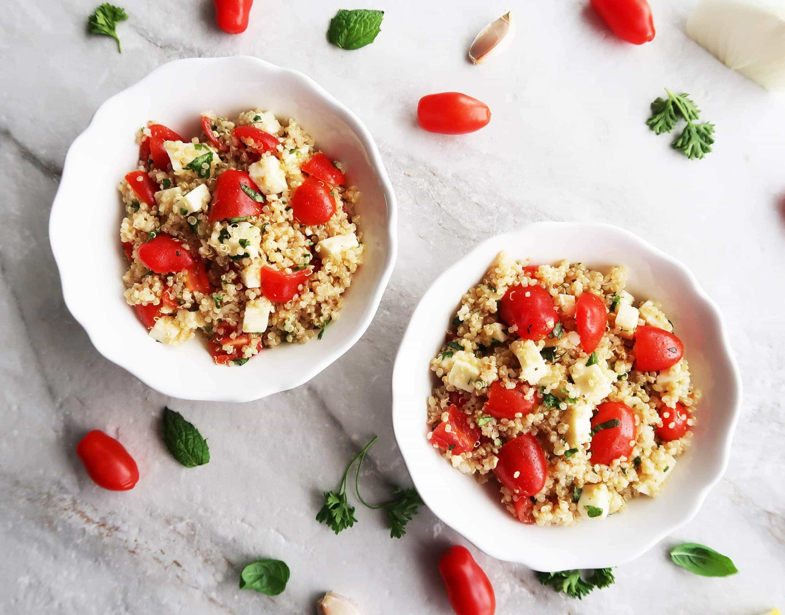 Fresh Tomato, Mozzarella, and Herb Quinoa Salad