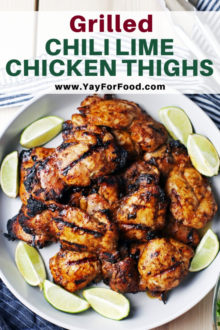 Summertime is grilling time! Enjoy delicious chicken thighs featuring the bright citrus flavour of lime and spicy notes of chili with this grilled chicken recipe. Perfect for your next barbecue or picnic.