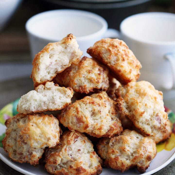 Easy Ham and Cheese Drop Biscuits