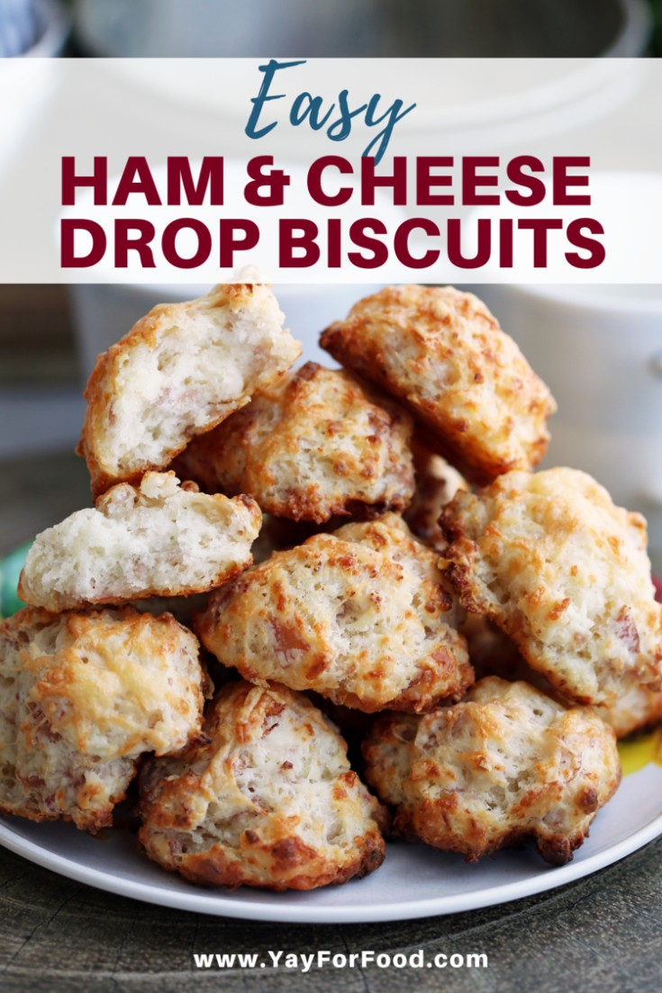 The classic winning combination of savoury ham and melty cheese is stuffed inside a drop biscuit that's crunchy on the outside and soft and fluffy on the inside. An easy recipe for the perfect snack.