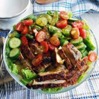 Honey Mustard Chicken Salad with Avocado and Tomatoes