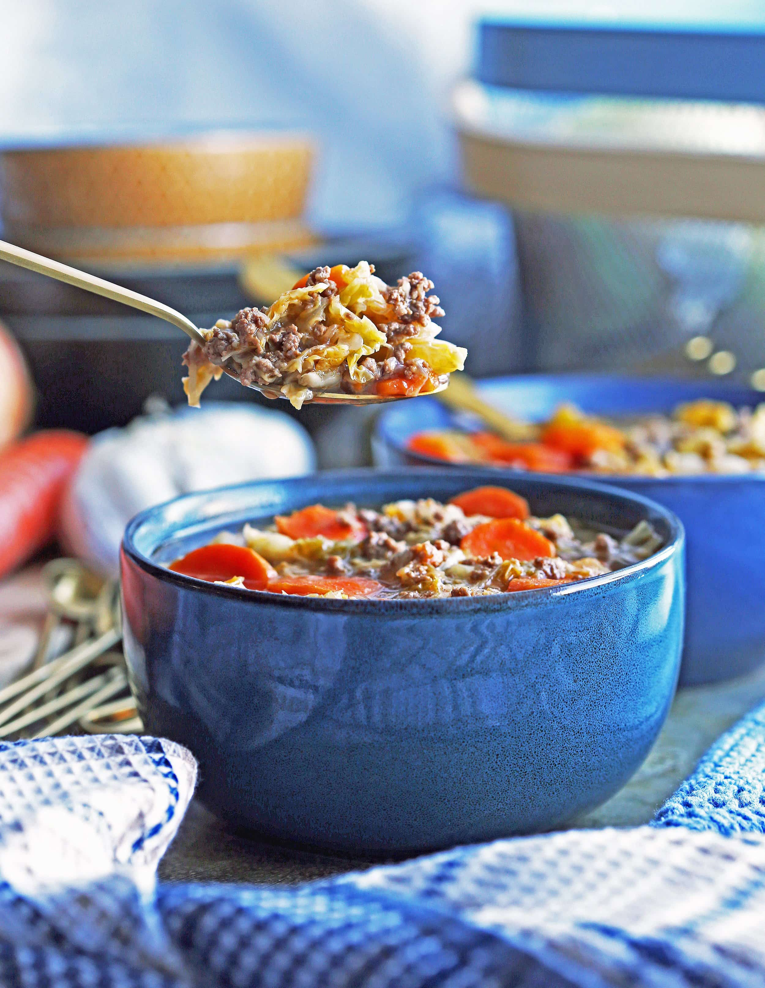 Instant Pot Beef and Cabbage Soup