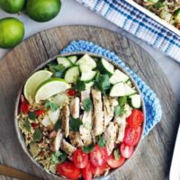 Instant Pot Cilantro Lime Chicken and Rice