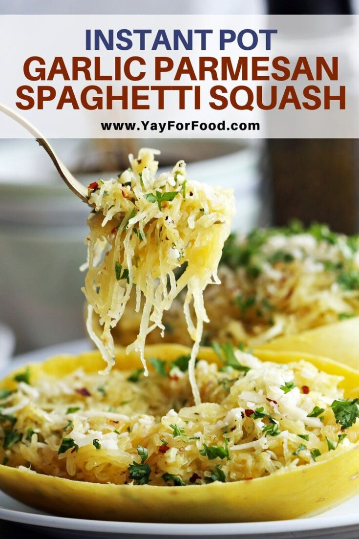 The classic combination of garlic and parmesan create the perfect sauce for this quick and easy Instant Pot spaghetti squash recipe. A lower carb alternative to pasta that's ready in under 30 minutes.