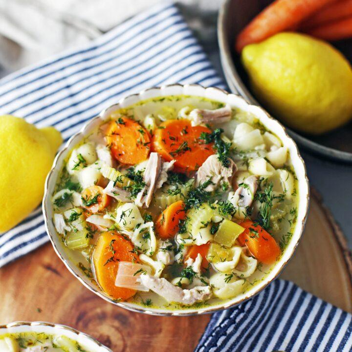 Instant Pot Lemon Dill Chicken Noodle Soup