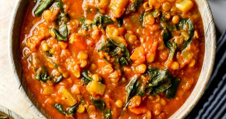 Instant Pot Turmeric Lentil Soup