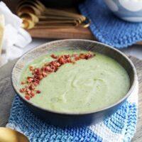 Instant Pot Potato Leek Soup with Spinach and Parmesan