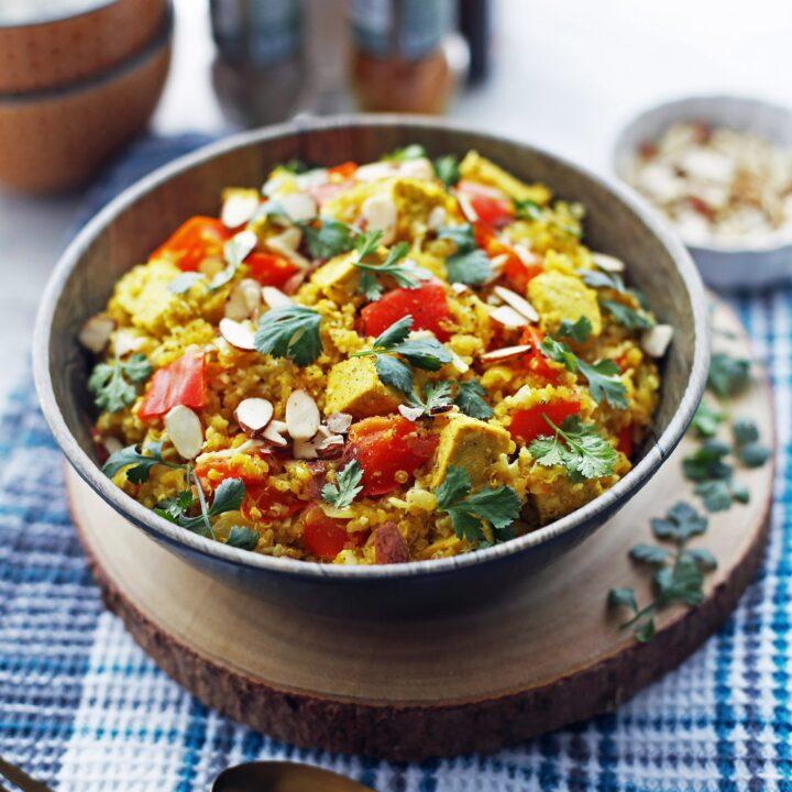 Instant Pot Spiced Quinoa and Cauliflower Rice Bowls