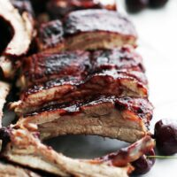 Instant Pot Baby Back Ribs with Cherry Chipotle Sauce