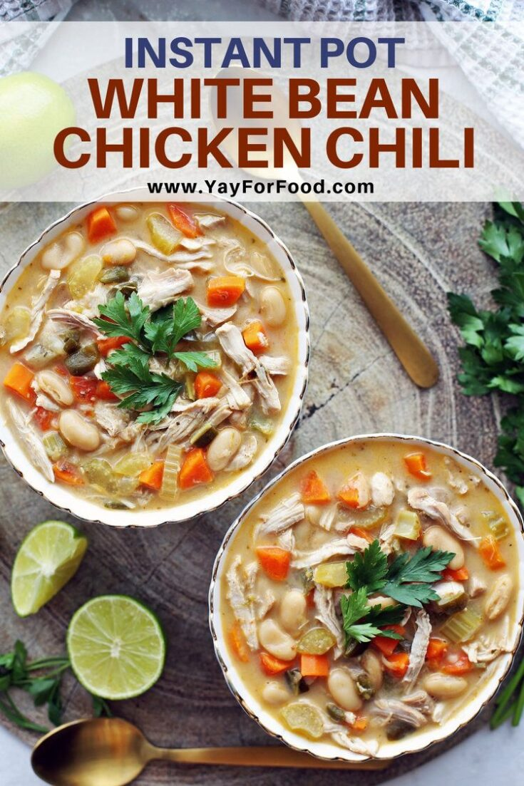 Featuring an assortment of fresh vegetables with hearty white beans, this Instant Pot chicken chili recipe is simple and delicious. A quick and filling meal to warm you up during the winter.