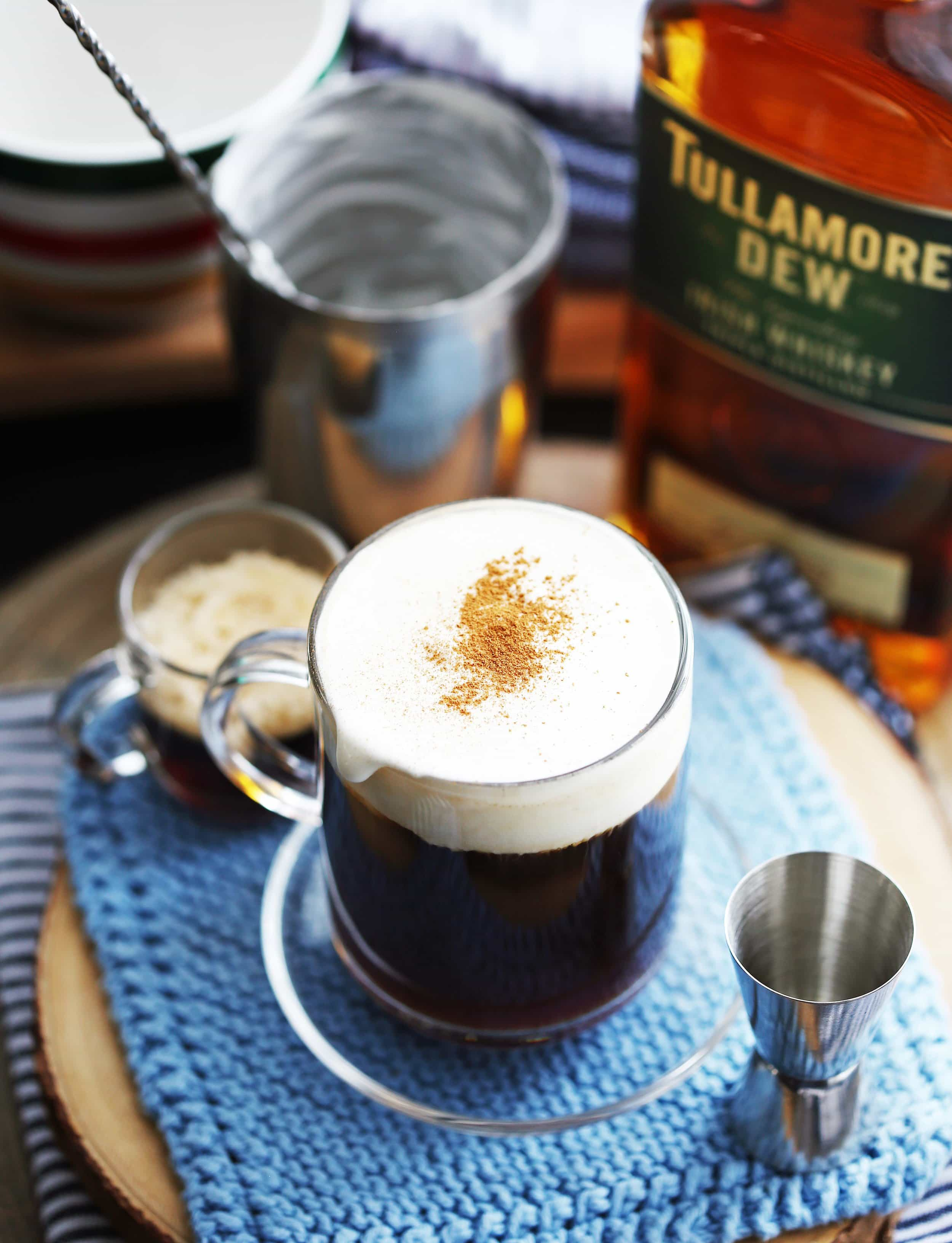 Maple Irish Coffee Cocktail