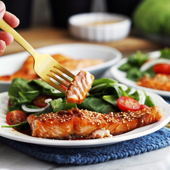 Maple-Soy Baked Salmon