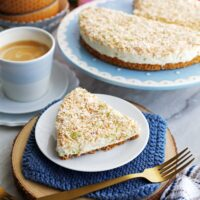 No-Bake Coconut Lime Mascarpone Cheesecake